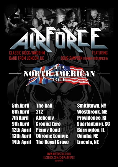 AIRFORCE (feat  ex-IRON MAIDEN drummer) to play Poland and